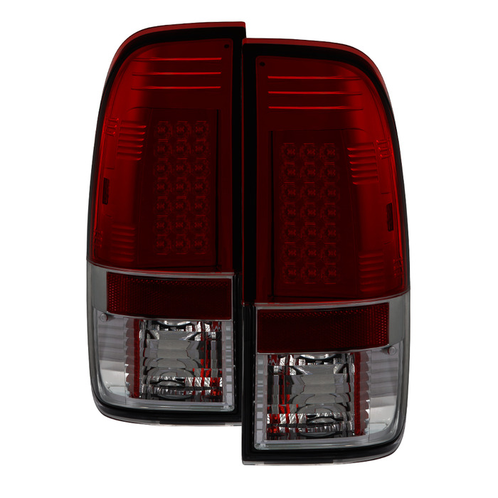 Spyder Auto ALT-YD-FF15097-LED-RS Red Smoke LED Taillights F-350 Super Duty 99-07