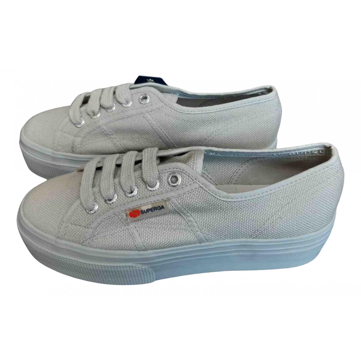 Superga \N Sneakers in  Grau Leinen