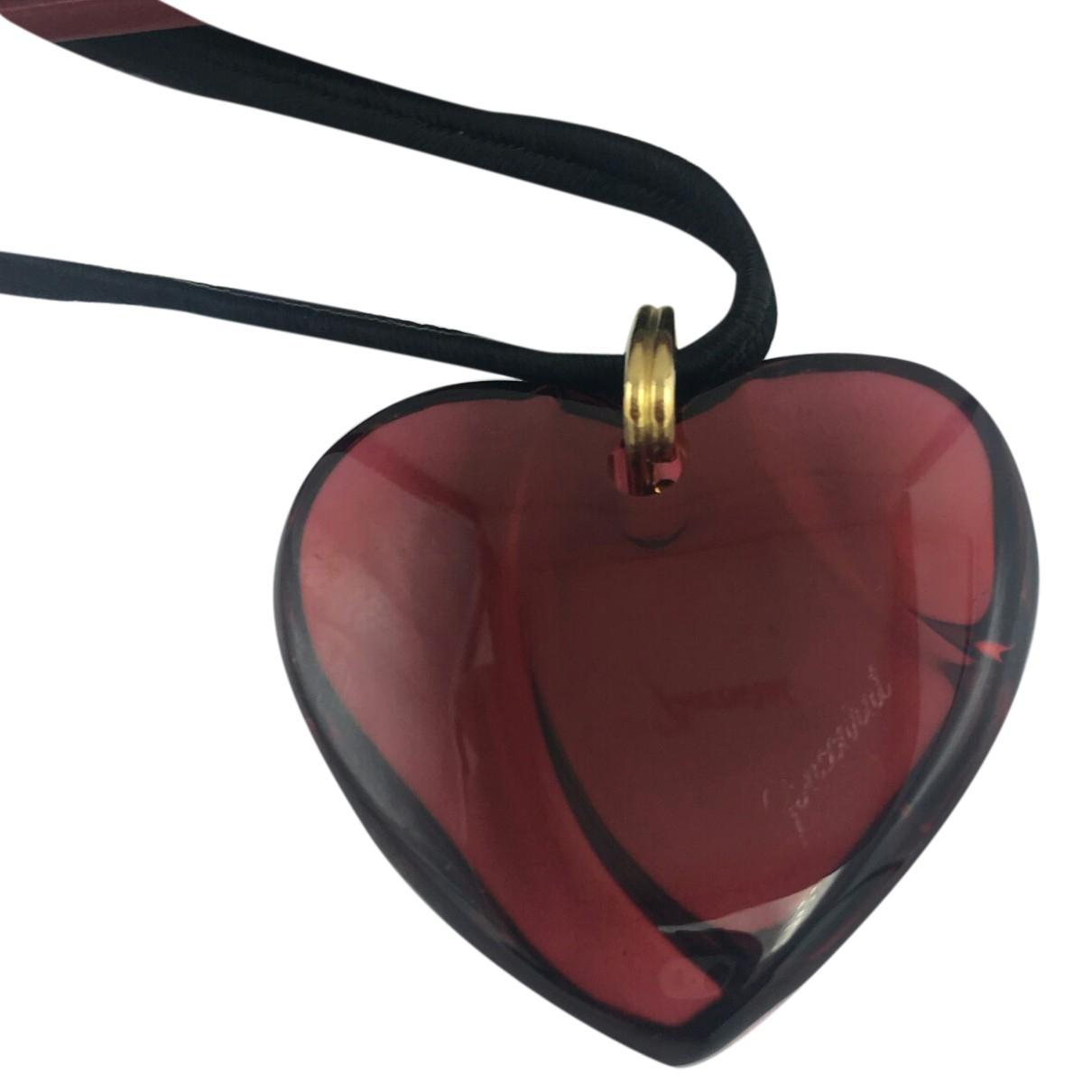 Baccarat - Collier   pour femme en cristal - rouge