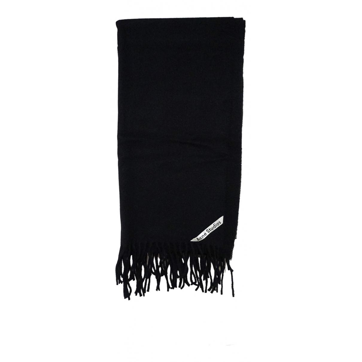 Acne Studios \N Black Wool scarf for Women \N