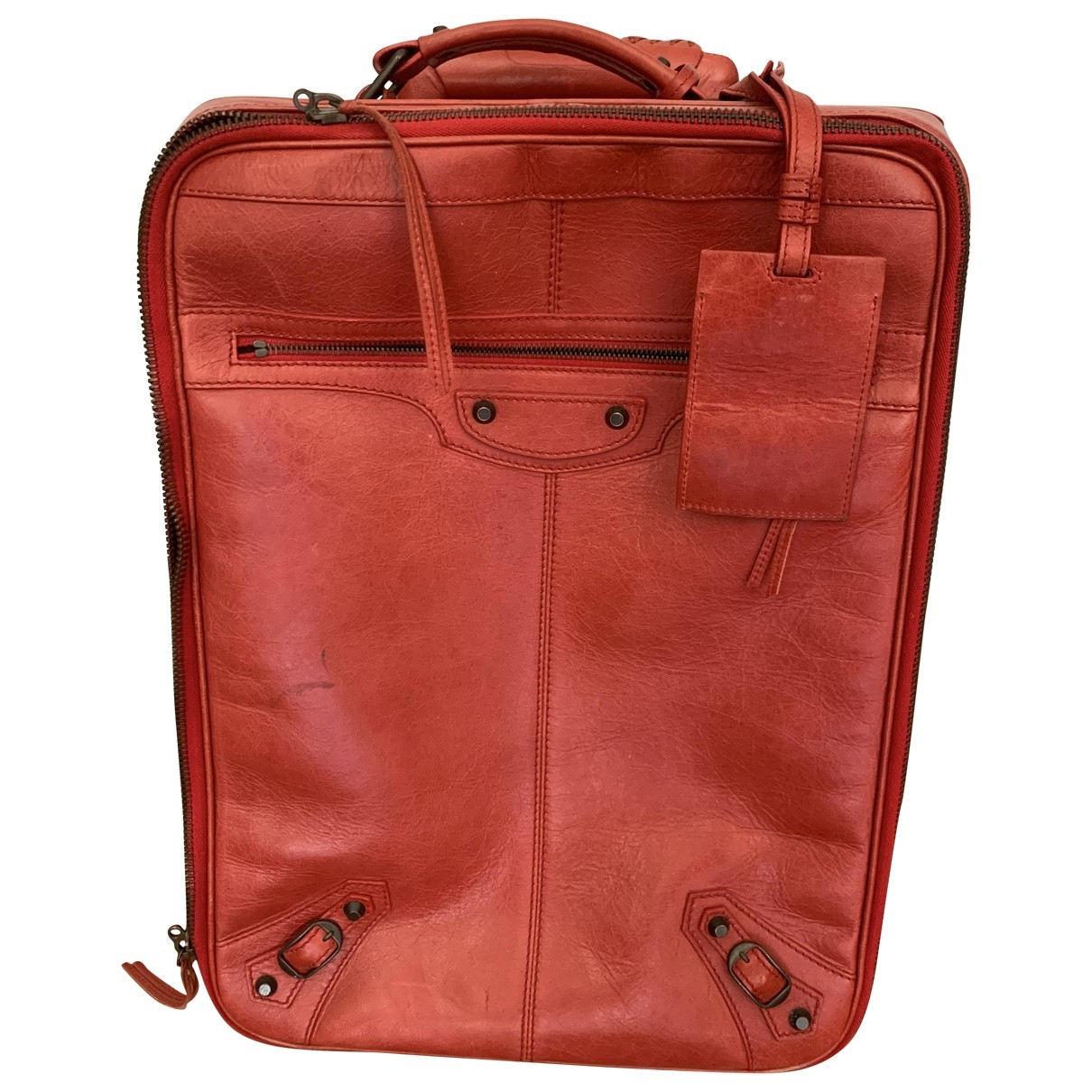 Balenciaga \N Red Leather Travel bag for Women \N