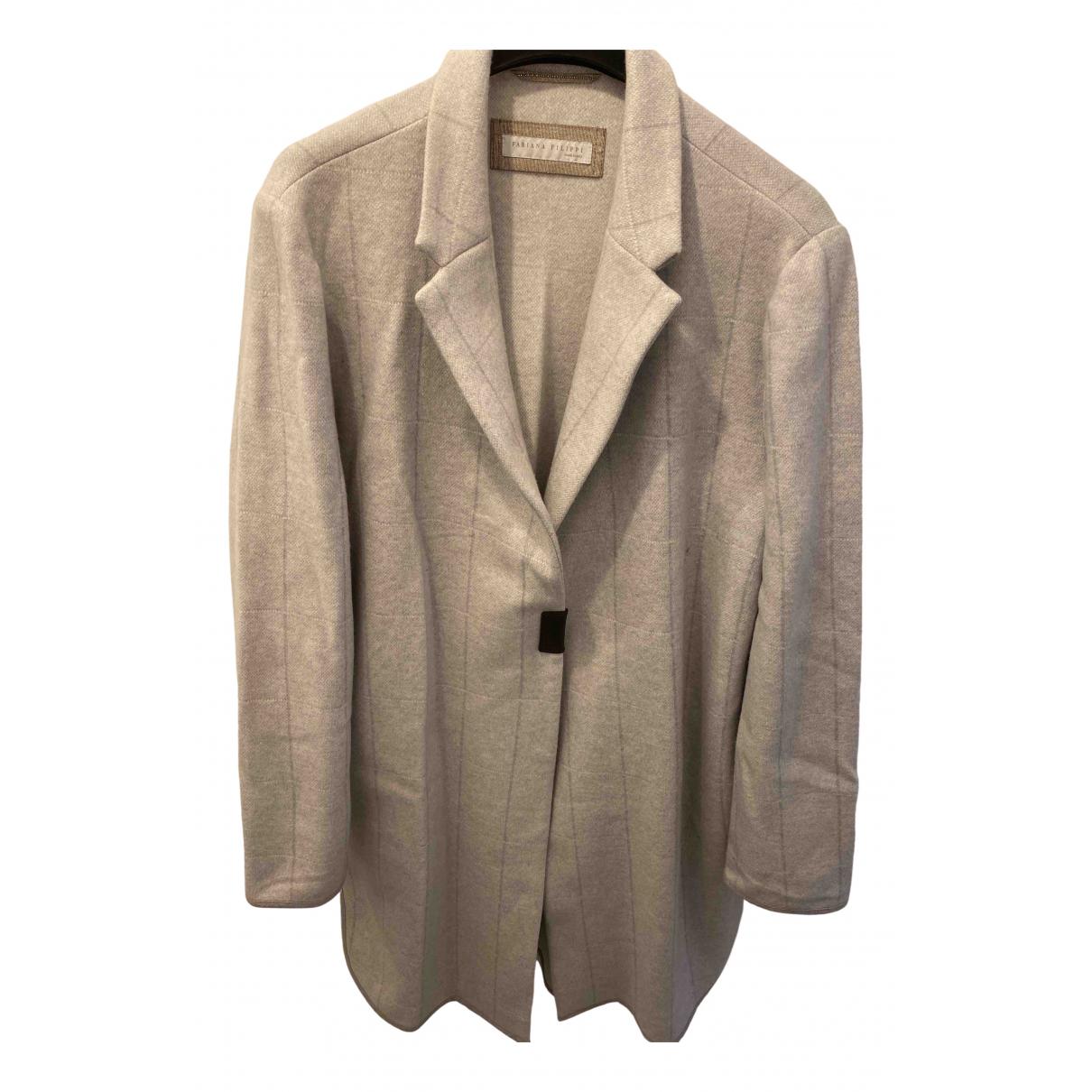Fabiana Filippi - Manteau   pour femme en laine - gris