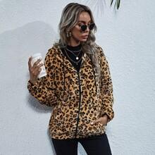 Cazadoras Cremallera Leopardo Casual