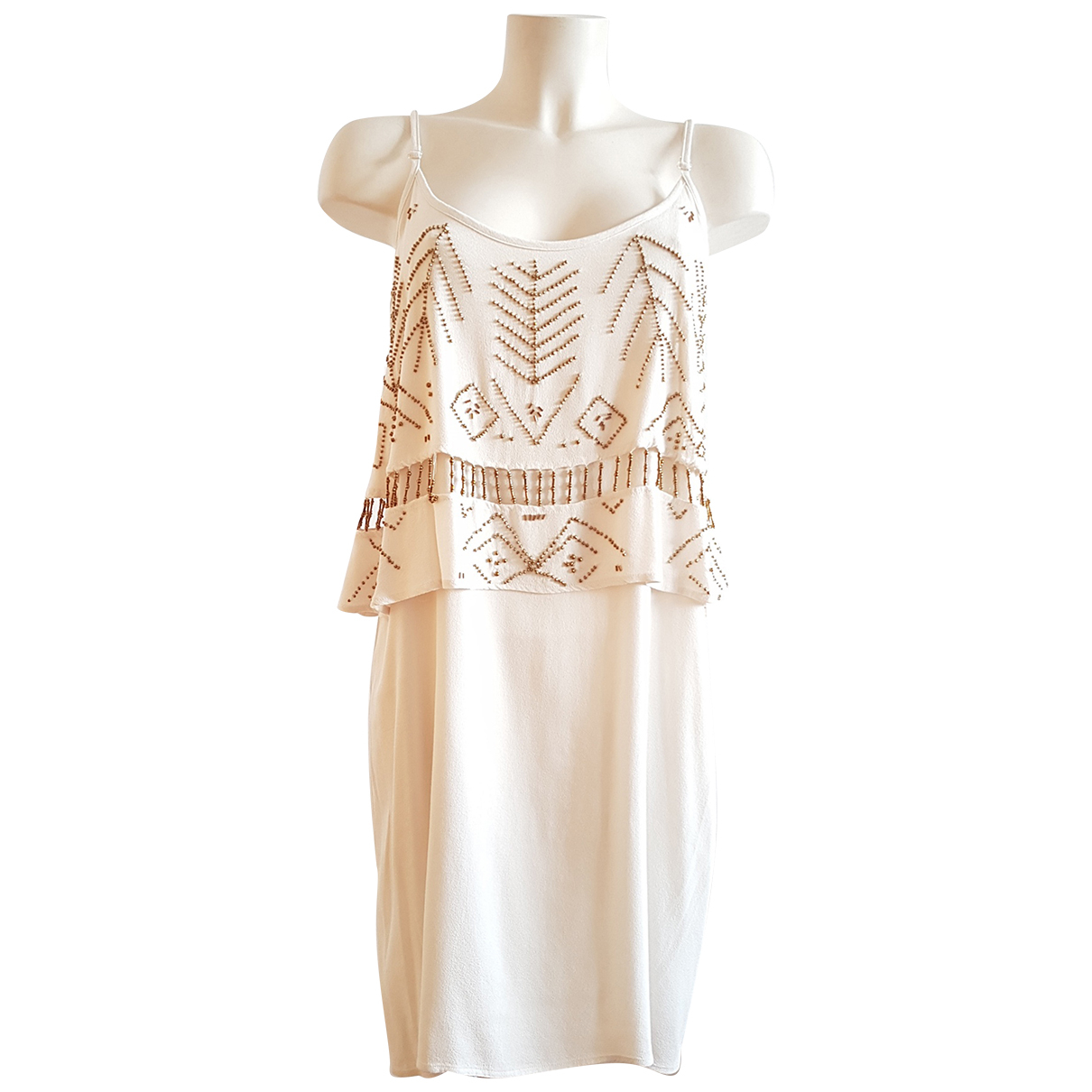 - Robe   pour femme - beige