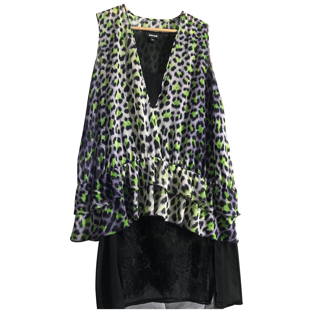 Just Cavalli \N Kleid in  Gruen Polyester