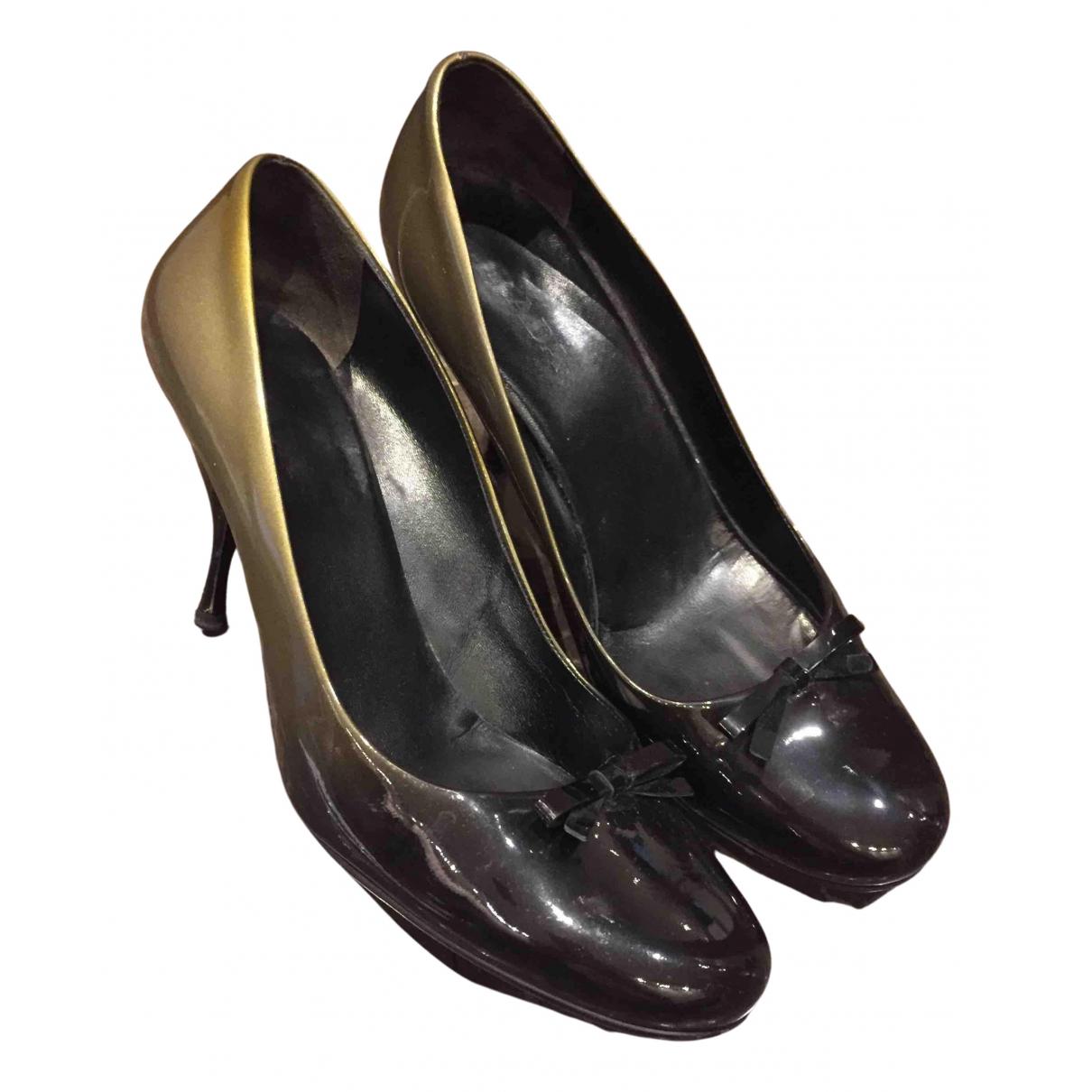 Prada N Green Patent leather Heels for Women 39 EU