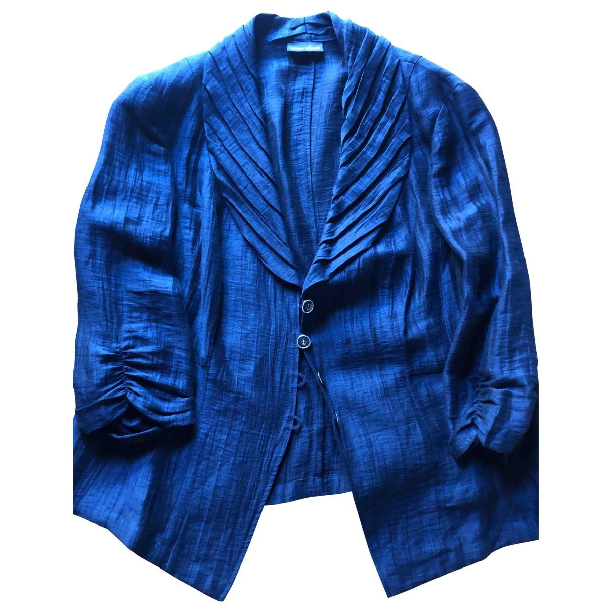 Weber - Veste   pour femme en lin - bleu