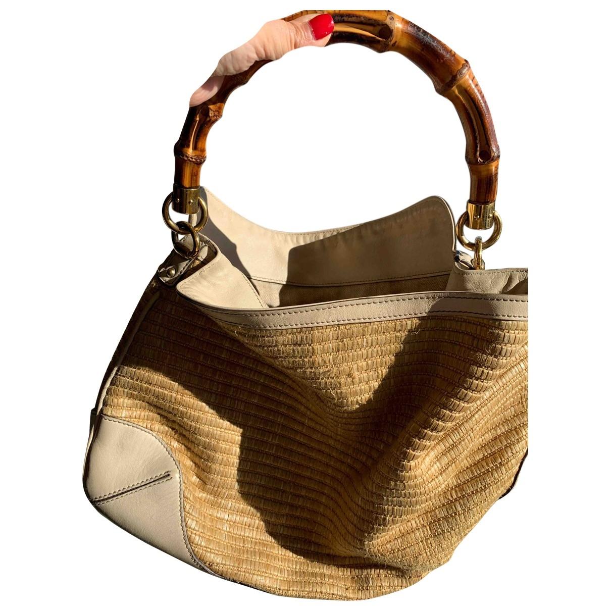 Gucci Bamboo Beige Wicker handbag for Women \N