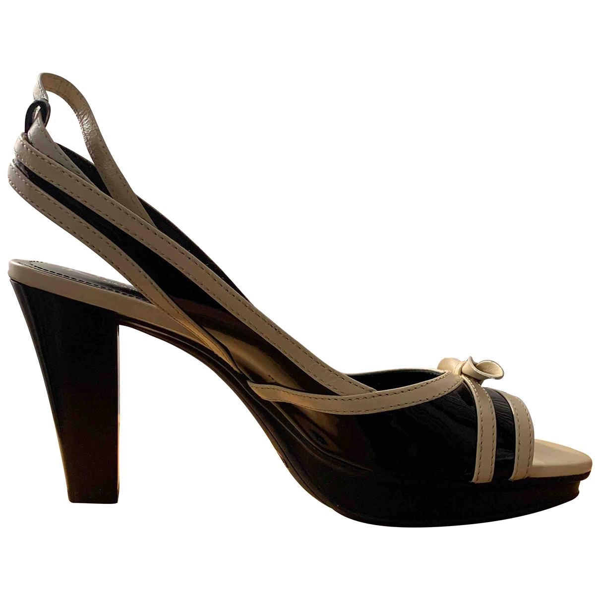 Tods - Sandales   pour femme en cuir verni - noir