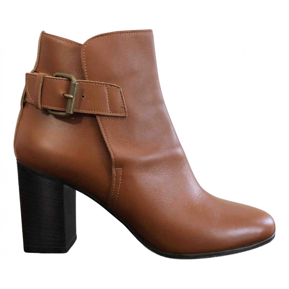 Michel Vivien - Boots   pour femme en cuir - camel