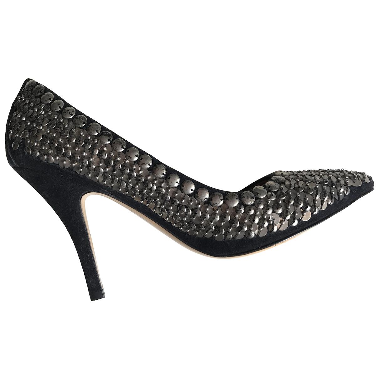 Isabel Marant Pour H&m \N Silver Glitter Heels for Women 40 EU