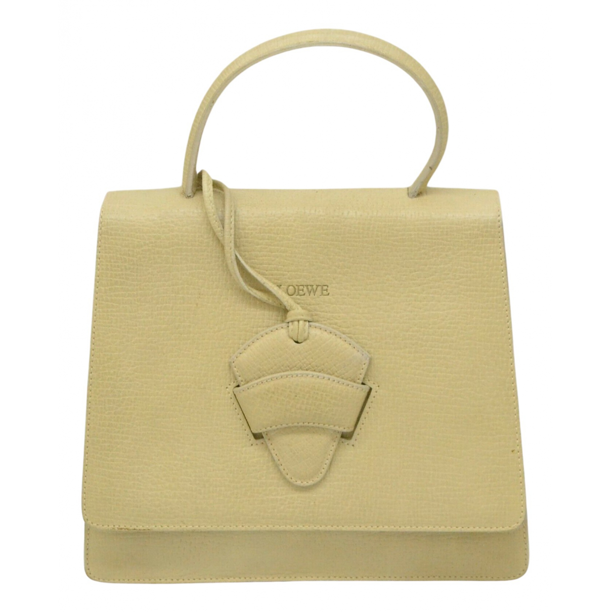 Loewe \N Yellow Leather handbag for Women \N
