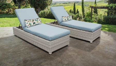 Fairmont Collection FAIRMONT-W-2x-SPA Set of 2 Chaises - Beige and Spa