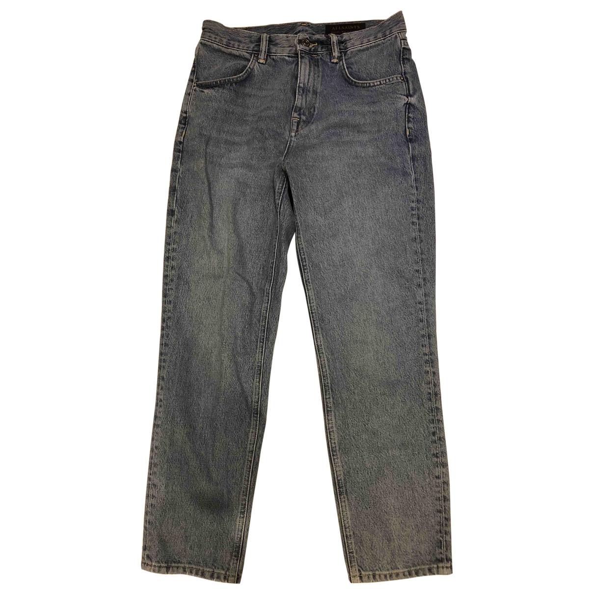 All Saints \N Blue Denim - Jeans Jeans for Women 27 US