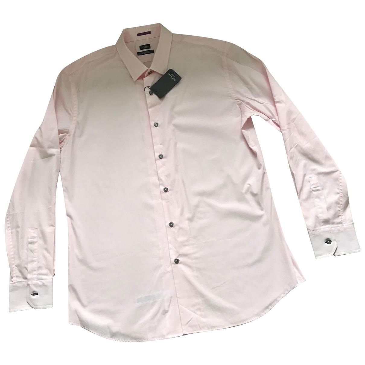 Paul Smith - Chemises   pour homme en coton - rose