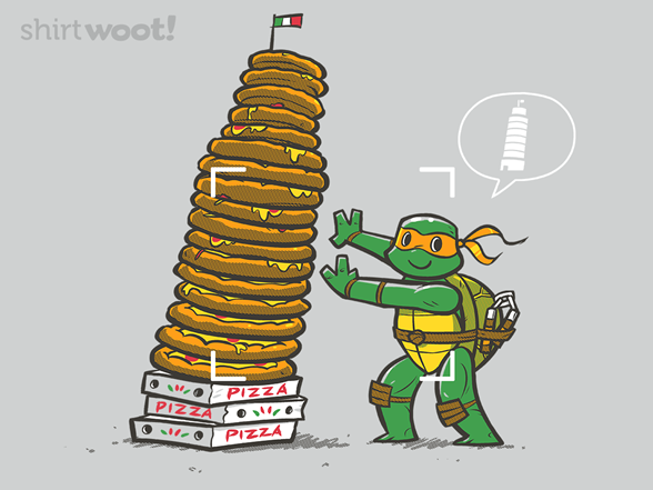 Leaning Tower Of Pizza T Shirt