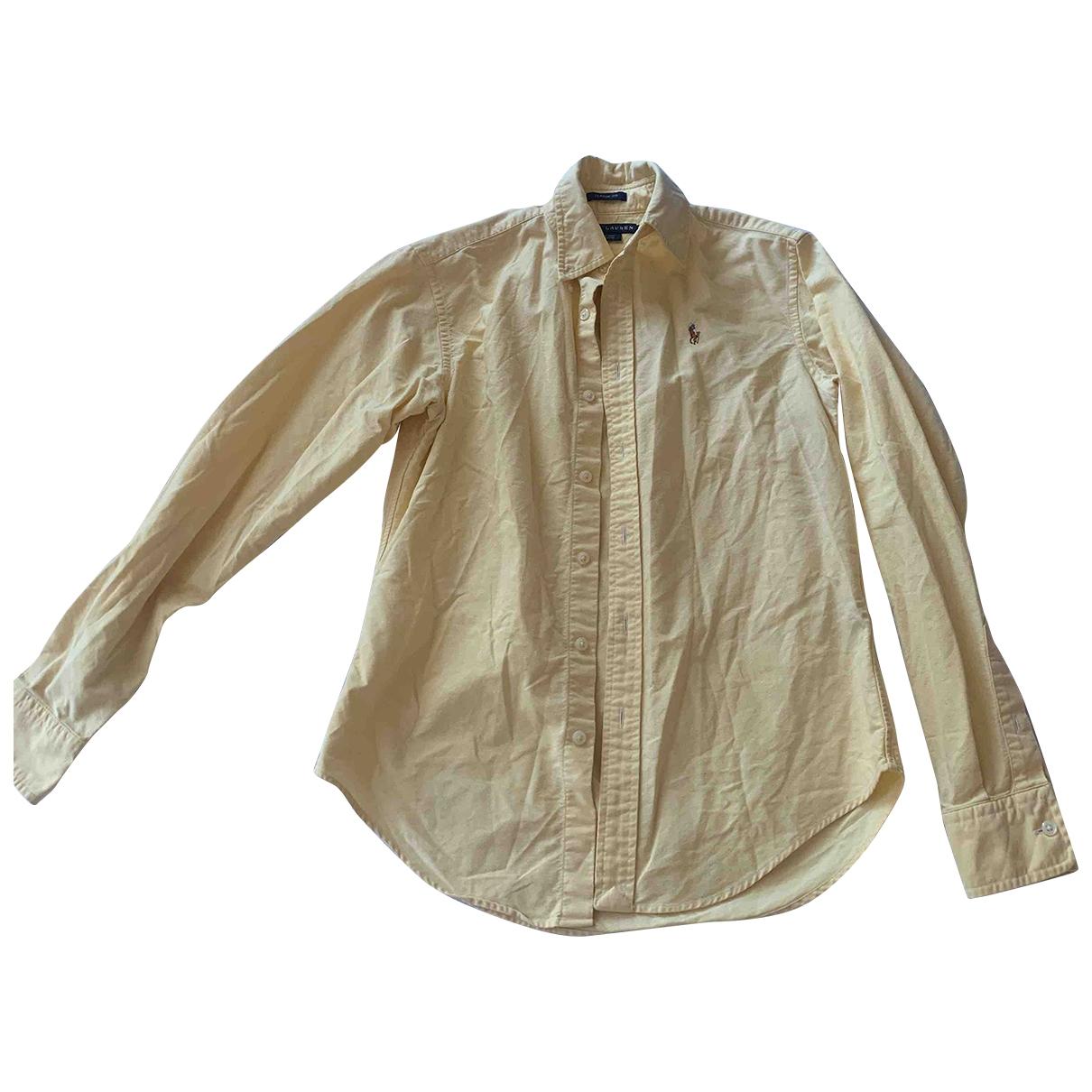 Ralph Lauren \N Yellow Cotton  top for Women 2 US
