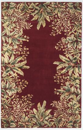 350399 8' x 11' Wool Ruby Area