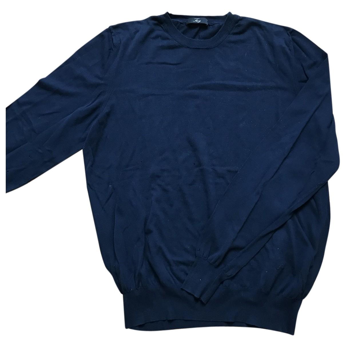 Fay \N Pullover.Westen.Sweatshirts  Blau