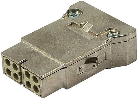 HARTING Han-Modular Series Cable Mount Mega Bit Contact, Female, 8 Way, 10A, 50 V