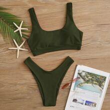 Bikini Badeanzug mit hohem Beinschnitt