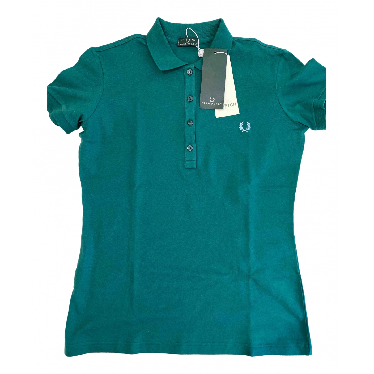 Fred Perry \N Green Cotton  top for Women XL International