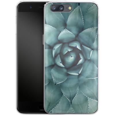 OnePlus 5 Silikon Handyhuelle - Beautiful Succulent von caseable Designs