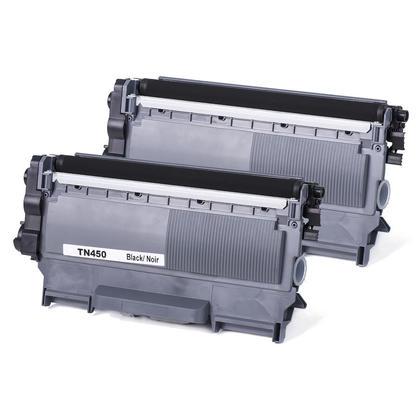 Compatible Brother TN-450 Black Toner Cartridge - Economical Box - 2/Pack
