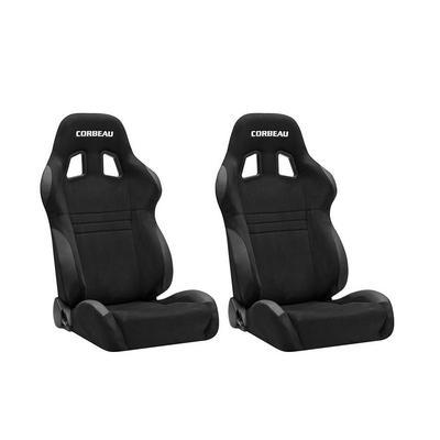 Corbeau A4 Racing Seat - Pair (Black Suede) - S60091PR