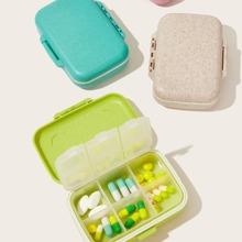 Weizenstroh tragbare Pille Aufbewahrungsbox 1 Stueck
