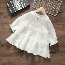 Kleid mit Punkten Muster, Schleife vorn und Ruesche