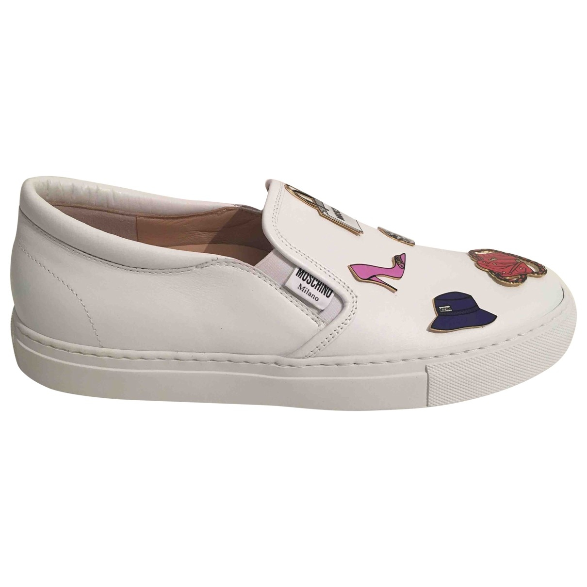 Moschino \N White Leather Trainers for Women 39 EU