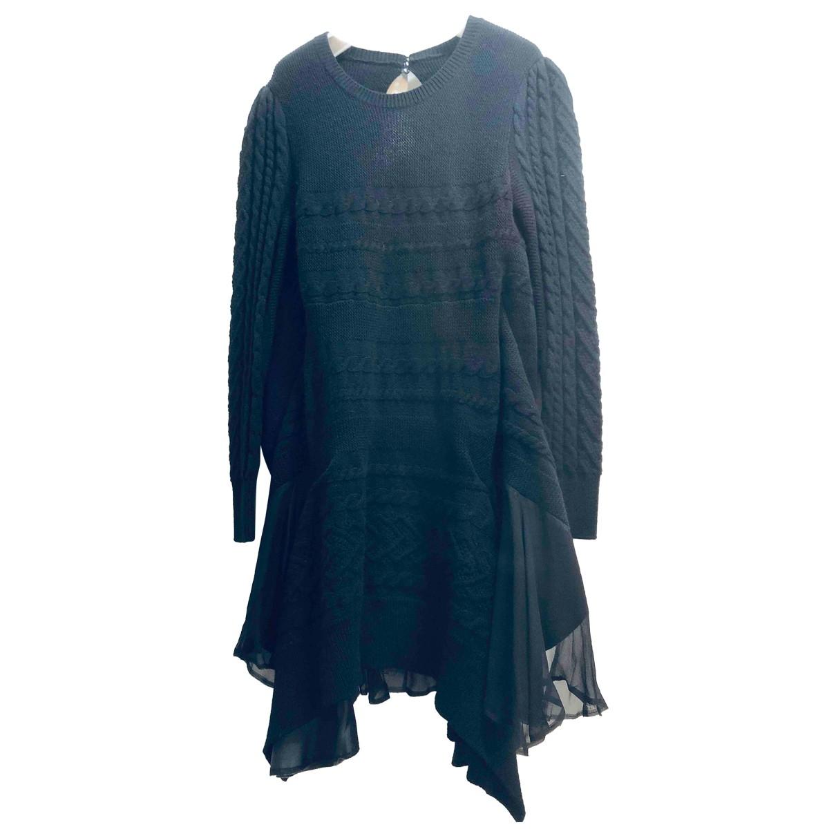 Sacai - Robe   pour femme en laine - noir