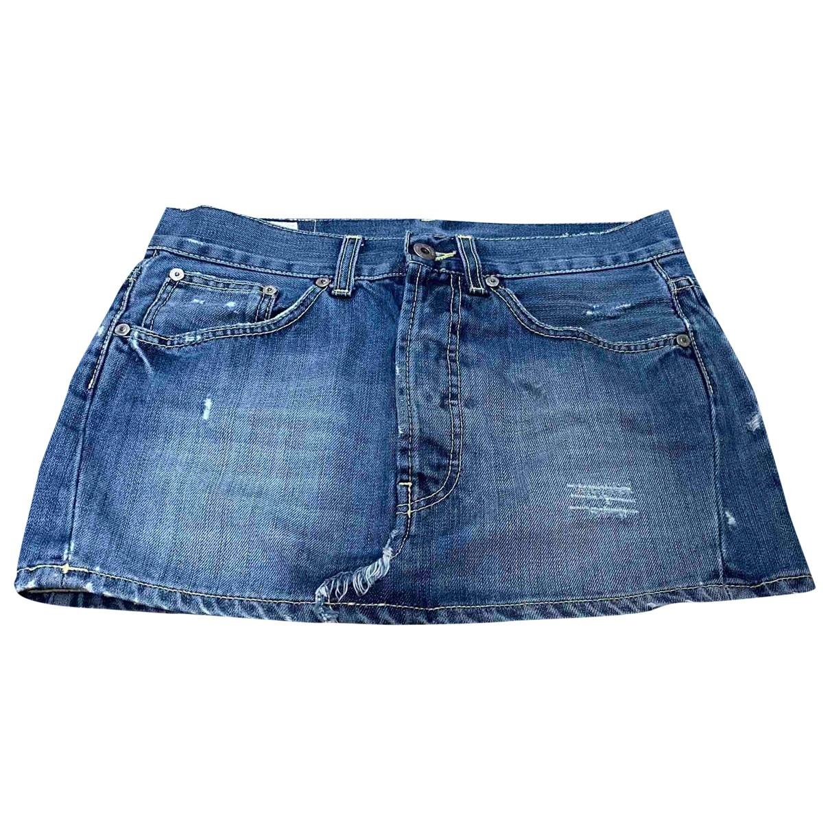 Dondup \N Blue Denim - Jeans skirt for Women 40 IT