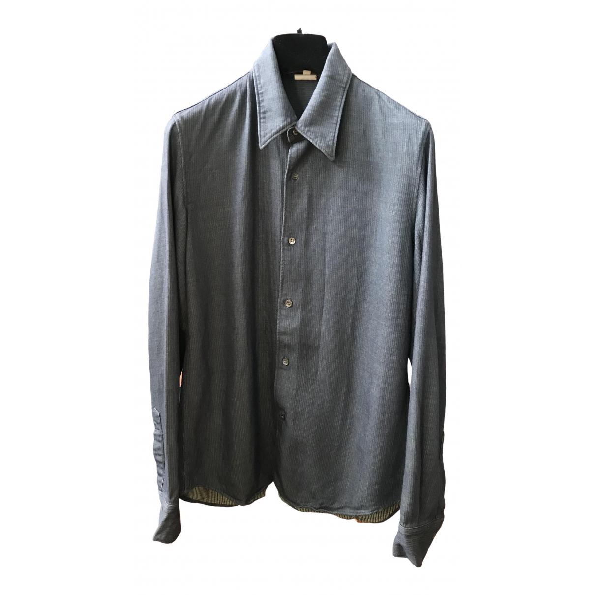 Ann Demeulemeester - Chemises   pour homme en laine - bleu
