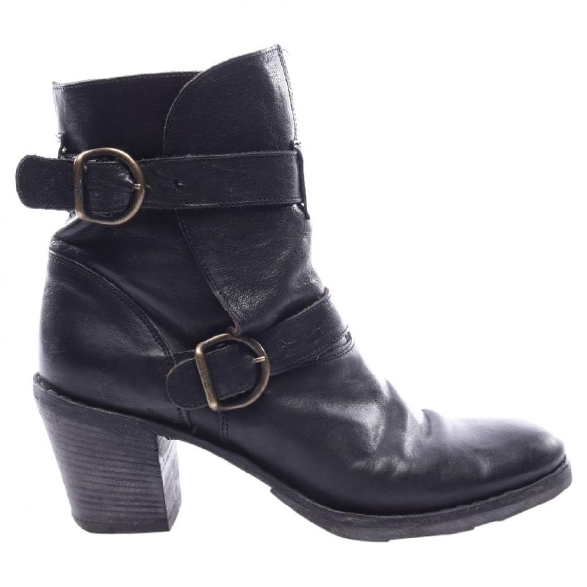 Fiorentini+baker - Boots   pour femme en cuir - noir
