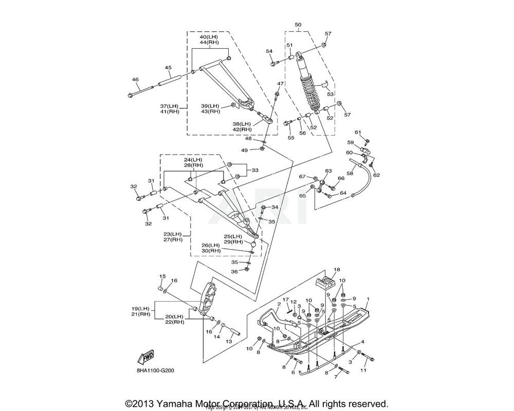 Yamaha OEM 8HA-23550-00-P0 FRONT UPPER ARM COMP. (RIGHT) | S8