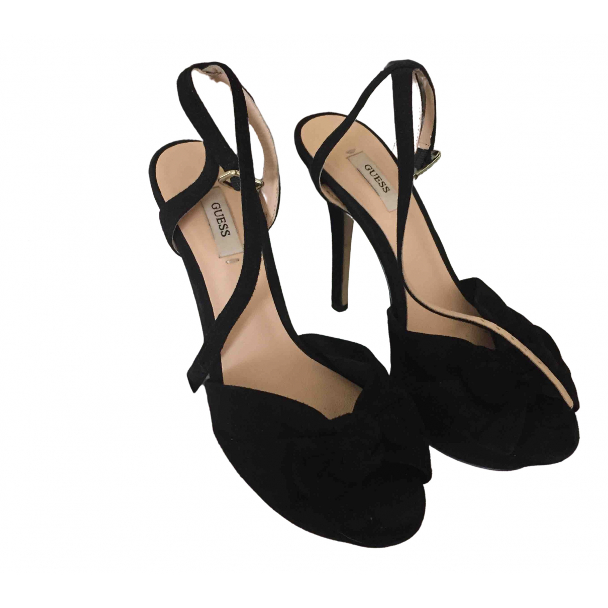 Guess \N Black Suede Heels for Women 37 EU