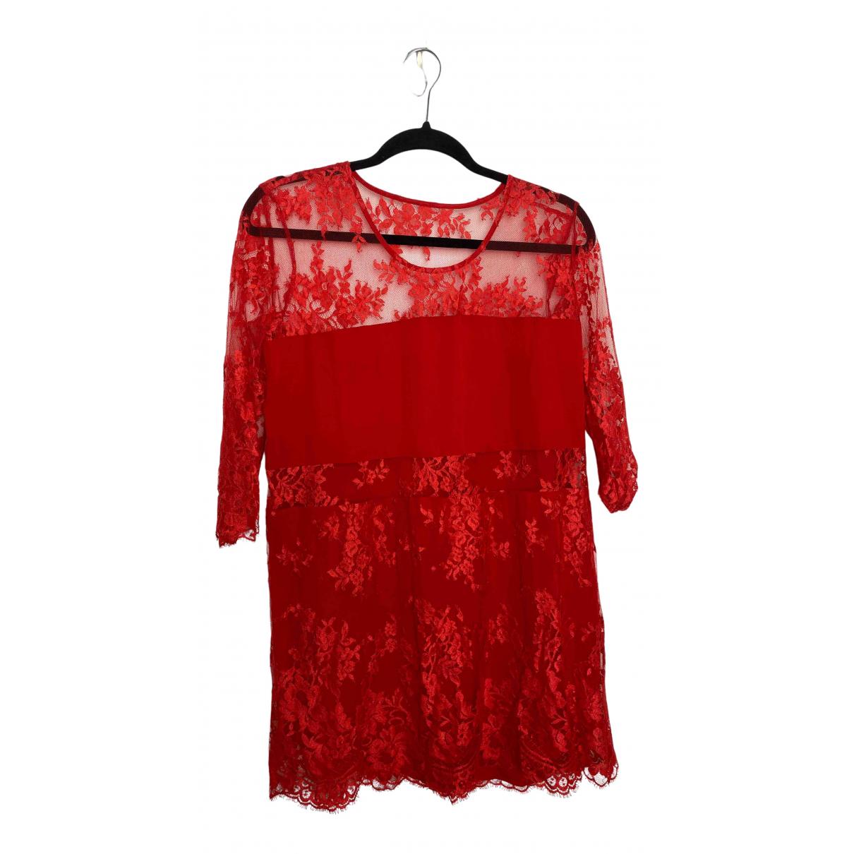 Mason By Michelle Mason \N Kleid in  Rot Seide