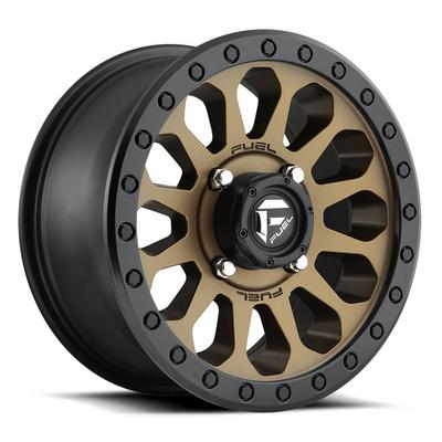 MHT Fuel Off-Road Vector D600 Wheel, 14x7 with 4 on 136 Bolt Pattern - Bronze / Black - D6001470A654