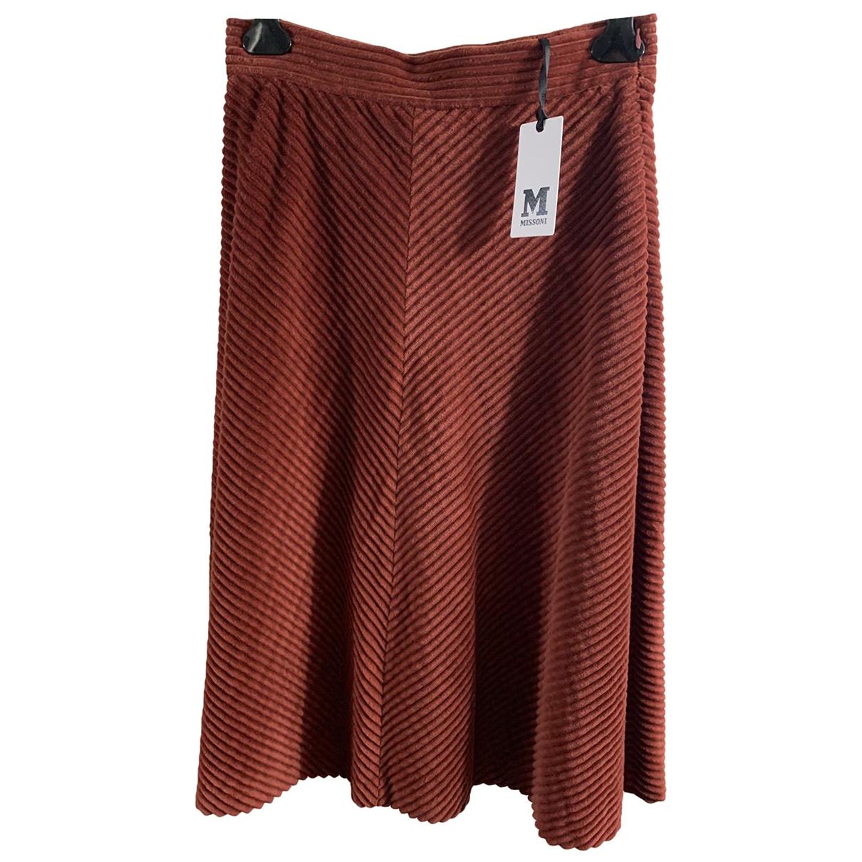 M Missoni - Jupe   pour femme en coton - orange