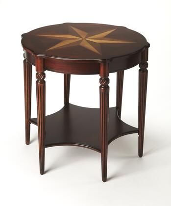 Bainbridge Collection 0557024 Accent Table with Traditional Style  Round Shape and Cherry Veneer Material in Plantation Cherry
