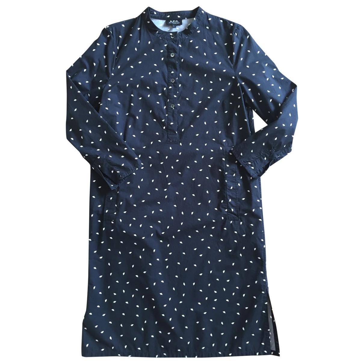 Apc - Robe   pour femme en coton - noir