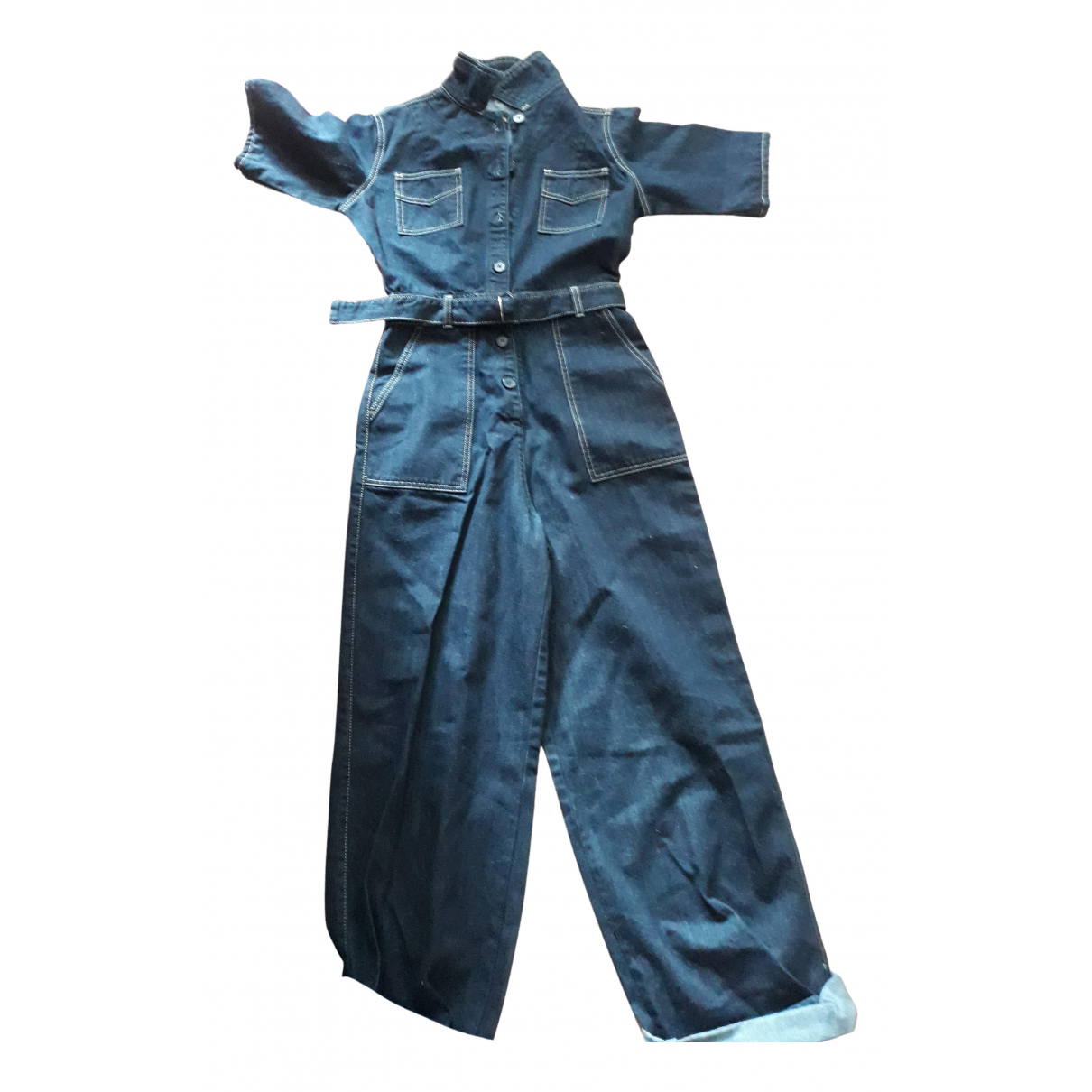 - Combinaison Oversize pour femme en denim - bleu