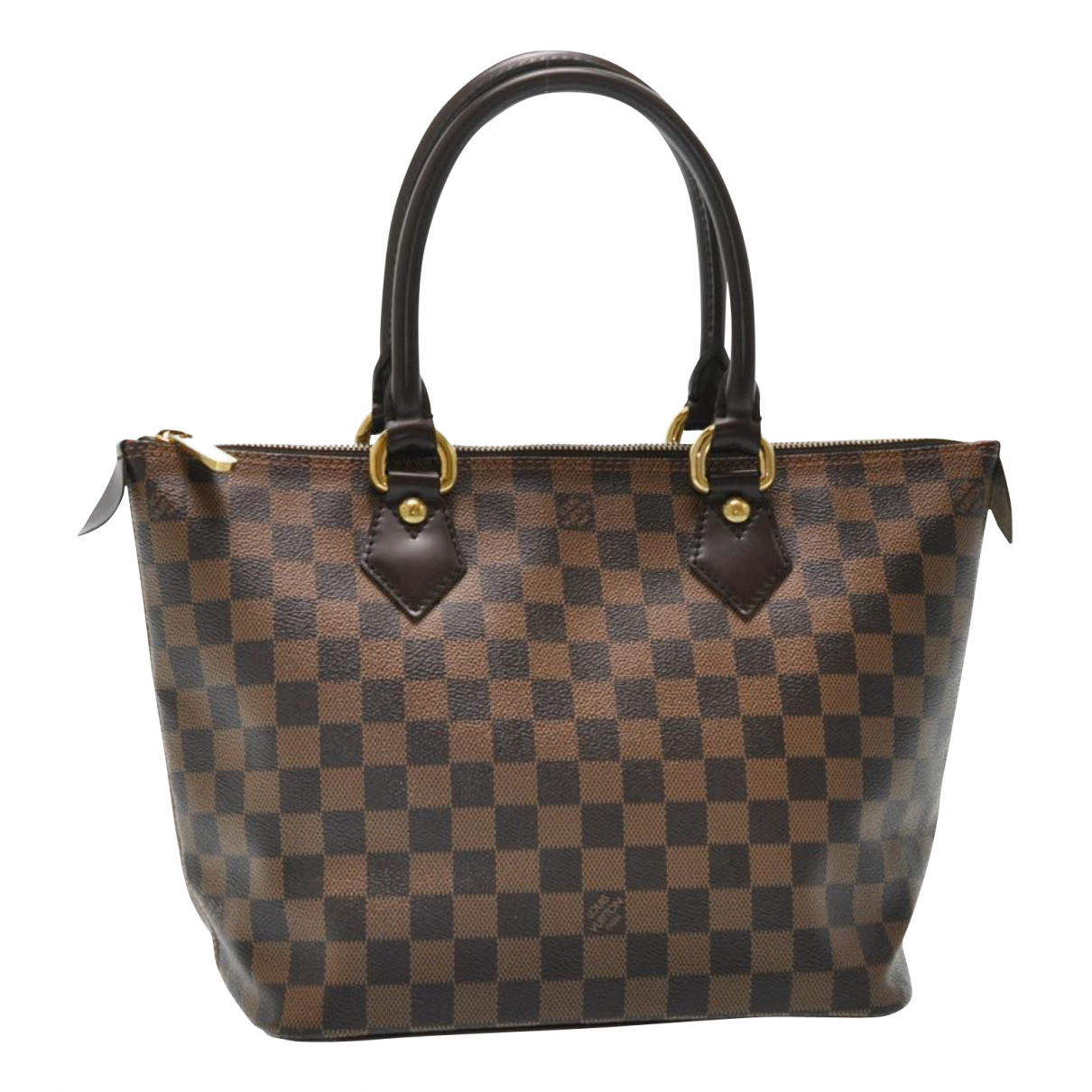 Louis Vuitton - Sac a main Saleya pour femme en toile - marron