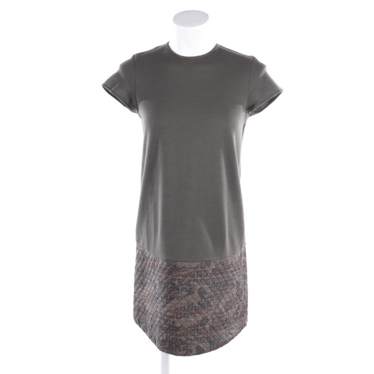 Fendi \N Kleid in  Khaki Wolle