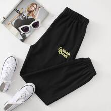 Letter Graphic Joggers