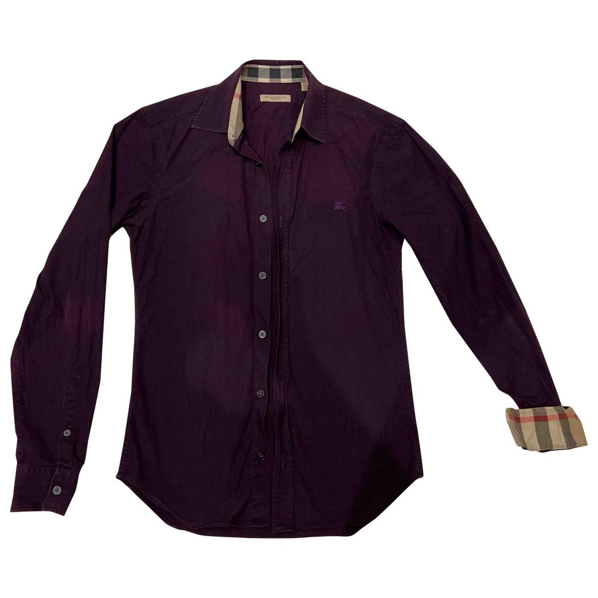Burberry \N Purple Cotton Shirts for Men XS International