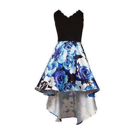 Speechless Big Girls Sleeveless Fit & Flare Dress, 14 , Blue