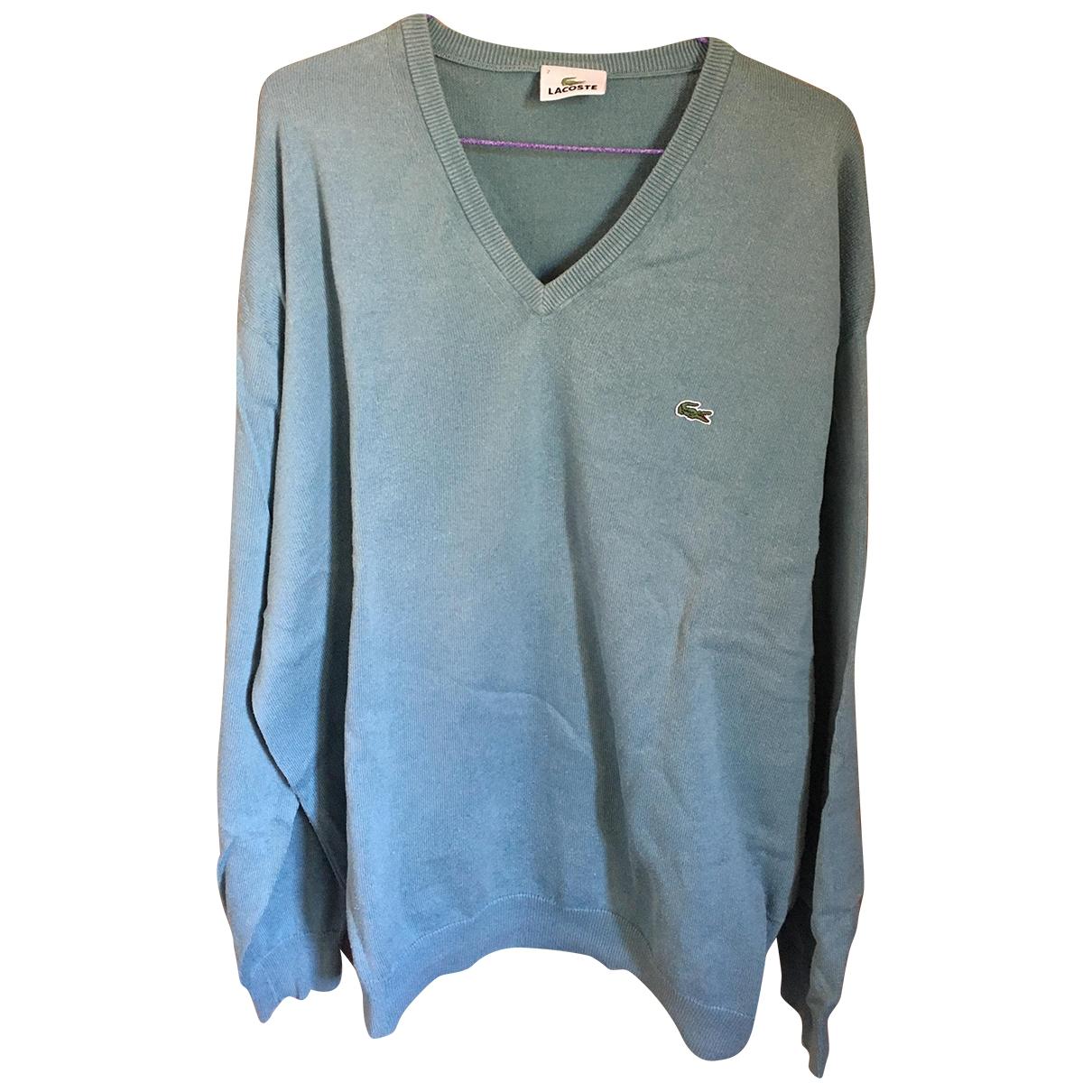 Lacoste \N Pullover.Westen.Sweatshirts  in  Tuerkis Baumwolle